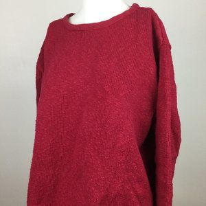 Orvis Womens Pullover Sweater, Red, XL